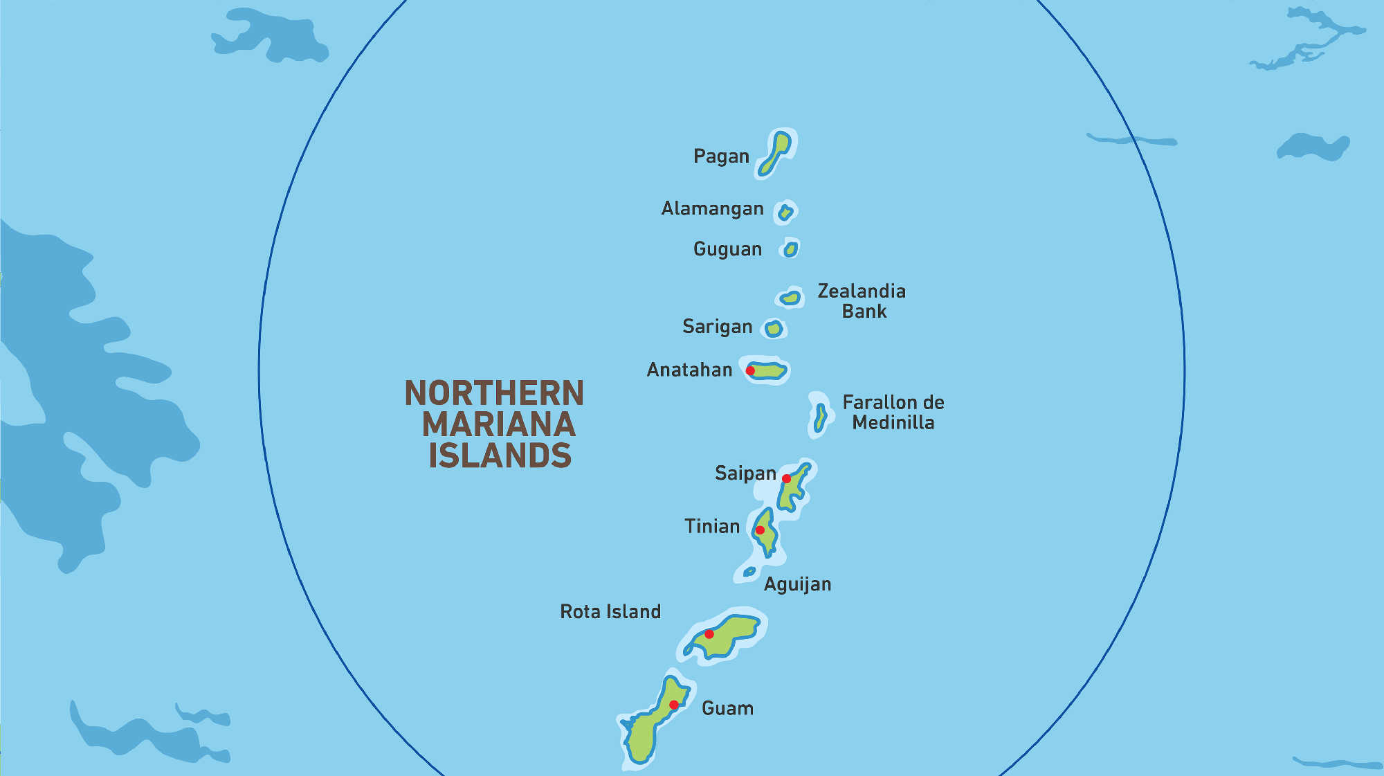 Map of Kacific 1 satellite coverage of Northern Maiana Islands