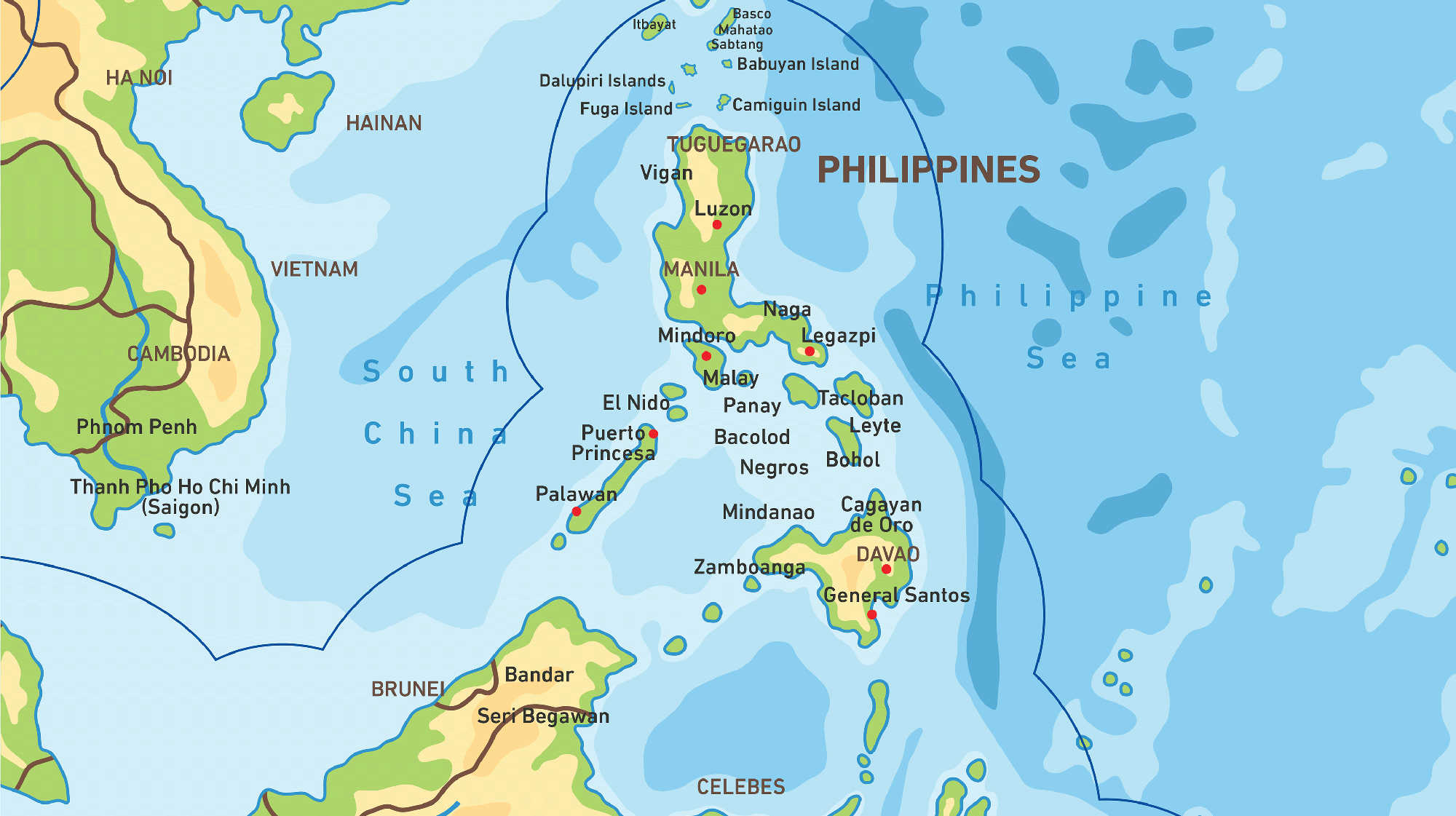 Map of Kacific 1 satellite coverage of Philippines