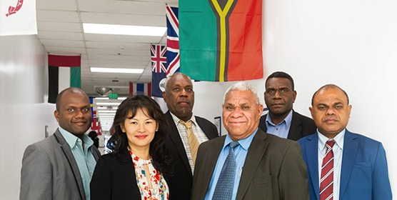 Senior members of the Vanuatu Government, trade and tourism offices recently visited the Boeing satellite factory