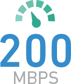 Connectivity from 200 Mbps