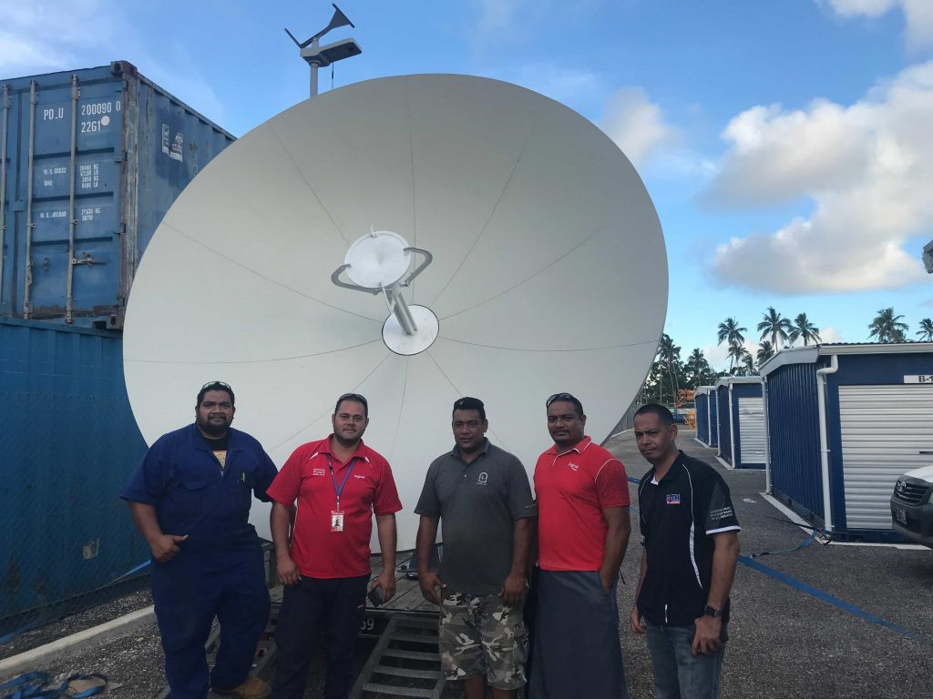 Newly Installed Satellite Terminal in Tonga