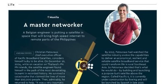 Christian Patouraux in the official magazine for Philippines Airlines