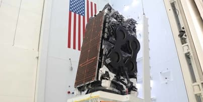 Kacific1 satellite arrives at SpaceX launch site in Cape Canaveral, Florida