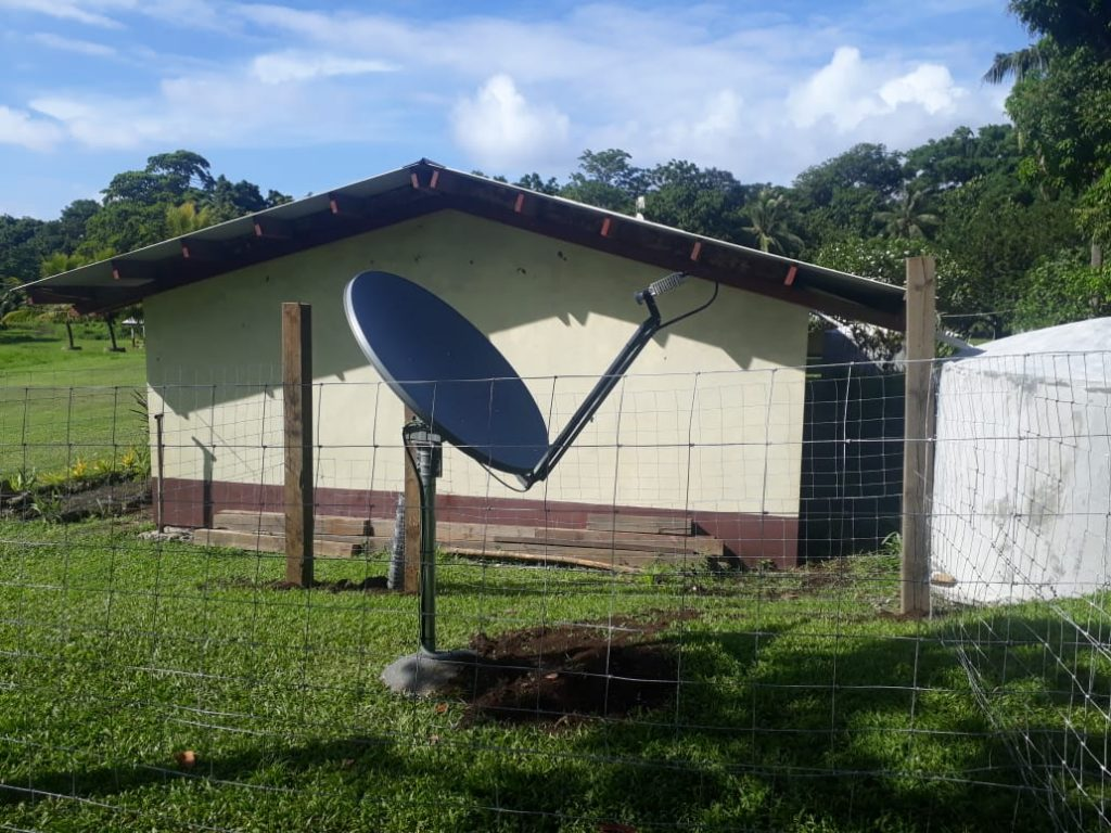VSAT (satellite dish) installation