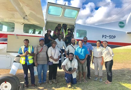One AHP patrol team (seven health professionals) and support staff_SDP_Papua New Guiena_Kacific satellite internet